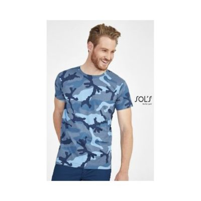TEE-SHIRT HOMME COL ROND CAMO MEN - article publicitaire
