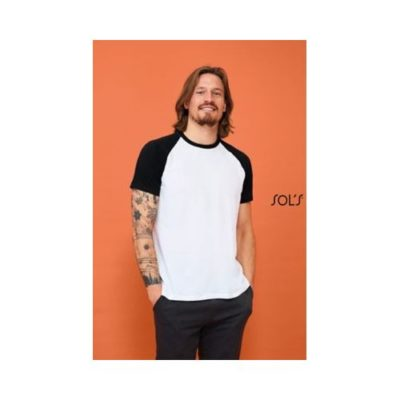 TEE-SHIRT HOMME BICOLORE MANCHES RAGLAN FUNKY - article publicitaire