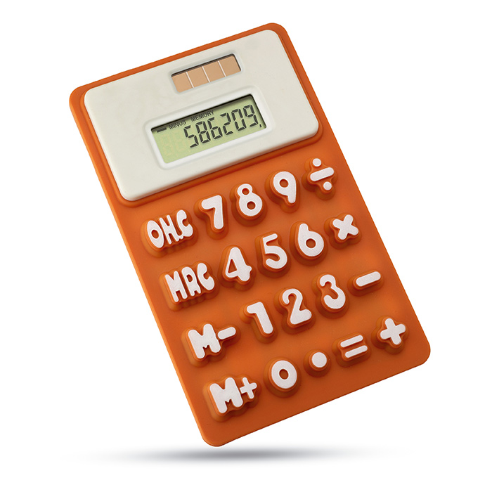 Calculatrice silicone FLEXI - article publicitaire