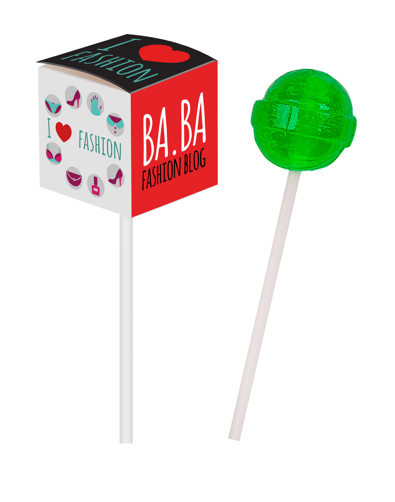 Sucette promotionnelle LOLLY CUBE - article publicitaire