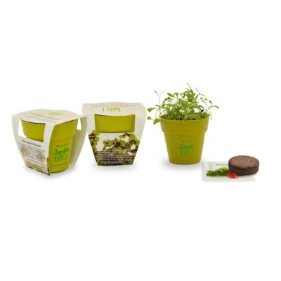 Kit de plantation Pot Bambou Biodégradable IDG50: - article publicitaire