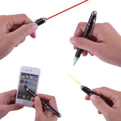 Stylo/stylet laser et LED 4 in 1 - article publicitaire