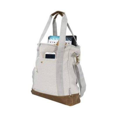 Sac shopping zippé canvas Harper - article publicitaire
