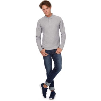Polo homme ID.001 manches longues - article publicitaire