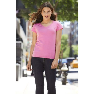 T-SHIRT FEMME COL V SOFTSTYLE - article publicitaire