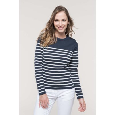 Pull marin femme - article publicitaire