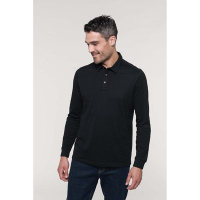 Polo jersey manches longues homme - article publicitaire