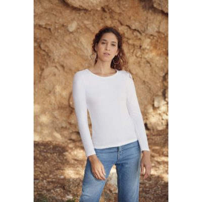 T-SHIRT FEMME MANCHES LONGUES VALUEWEIGHT (61-404-0) - article publicitaire