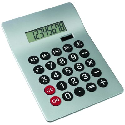 Calculatrice Dual Power GLOSSY - article publicitaire