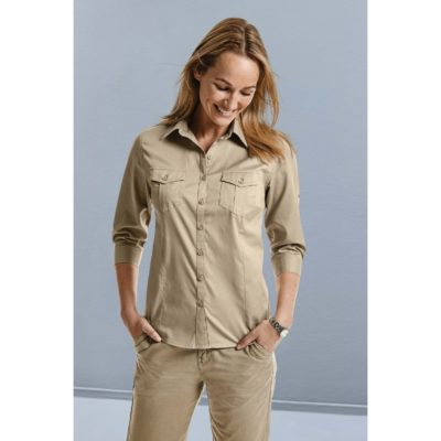 CHEMISE FEMME MANCHES 3/4 TWILL ROLL-UP - article publicitaire