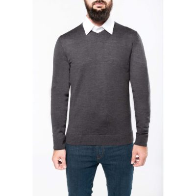Pullover mérinos col V homme - article publicitaire