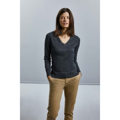 PULLOVER FEMME COL V - article publicitaire