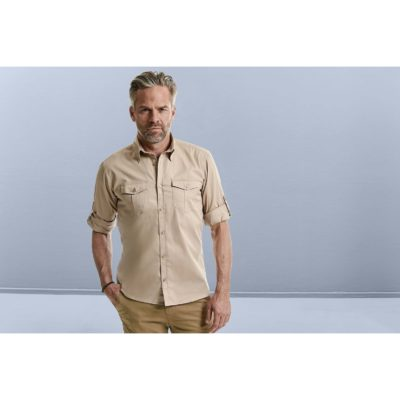 CHEMISE HOMME MANCHES LONGUES TWILL ROLL-UP - article publicitaire