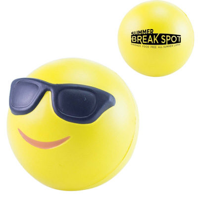 Balle anti stress Smiley cool - article publicitaire