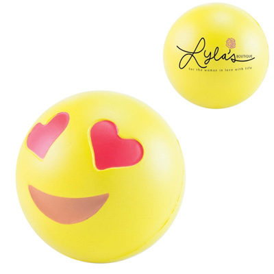 Balle anti stress Smiley love - article publicitaire