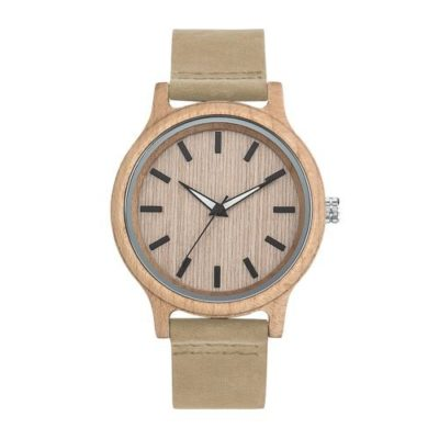 Montre WOODY cuir stock france - article publicitaire